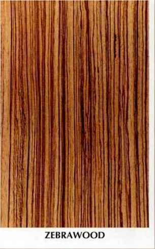 Reverse Diamond Match Zebrawood