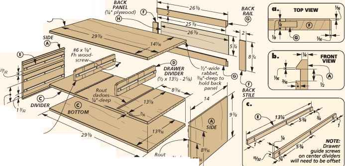 Chest Drawer Runners