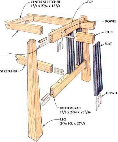 Wood Carvers Bench Plans