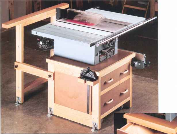 Table Saw Base Mobile