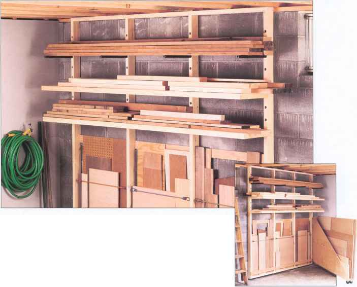 Space Saving Lumber Storage Plans