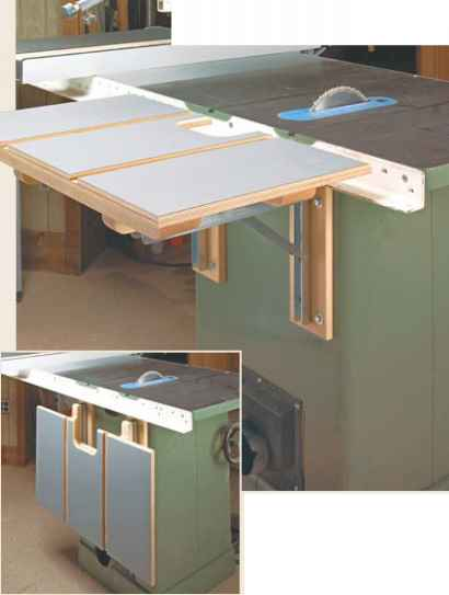Table Saw Outfeed Extension