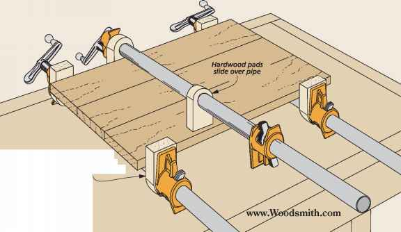 Woodsmith Tips Pipe Clamp Pads