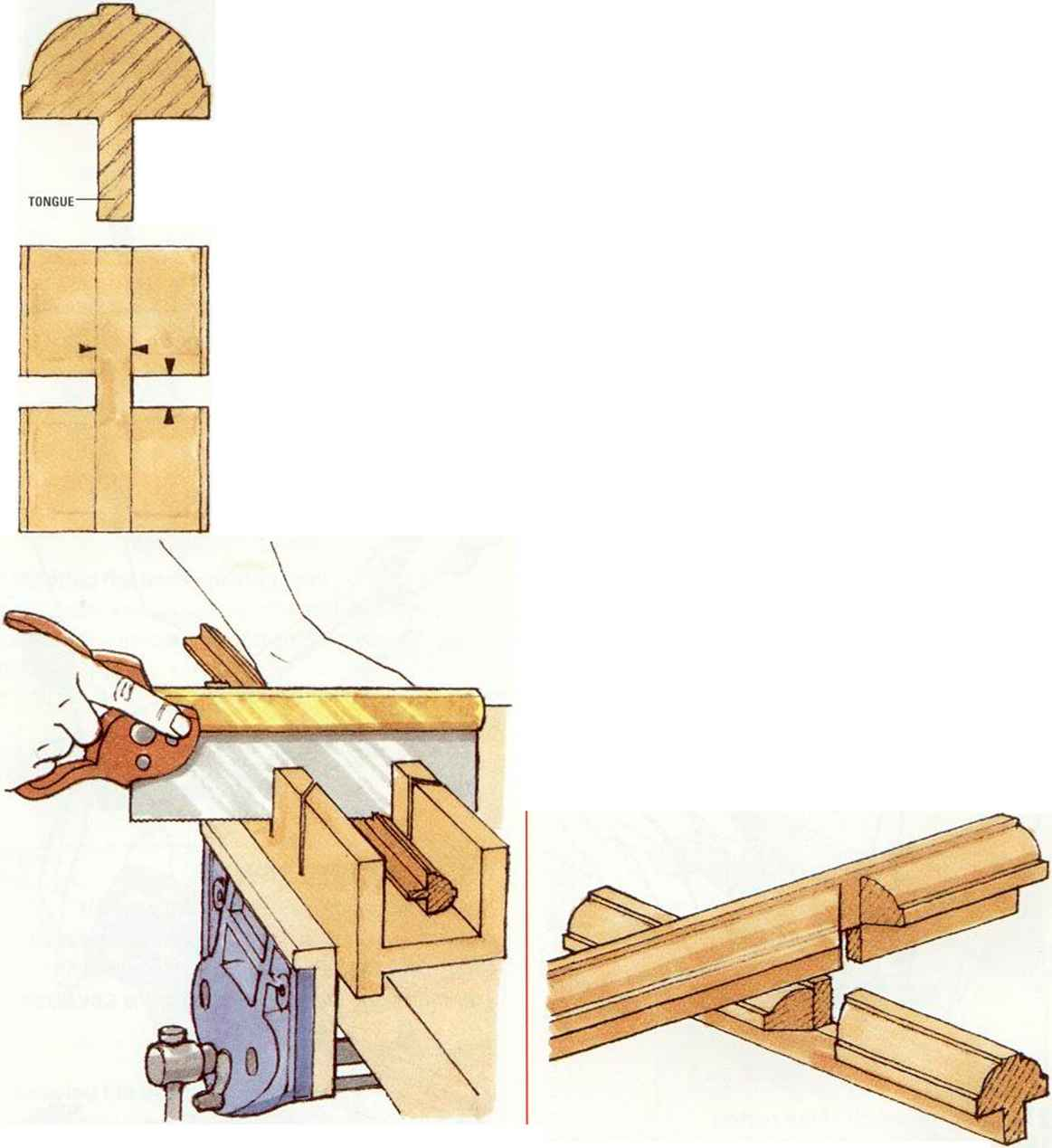 Glazing Bar Halving Joint Router Bits - Machine-Cut Joint