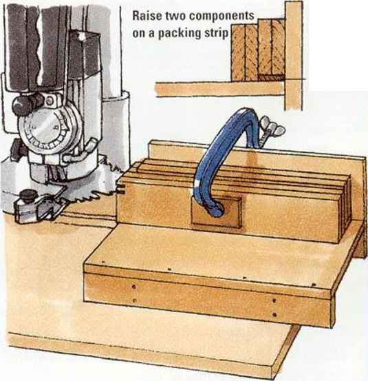 cutting finger joints on a radialarm machine cut joint. Black Bedroom Furniture Sets. Home Design Ideas