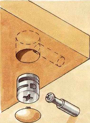 Cam Fittings - Machine-Cut Joint - Woodworking Archive
