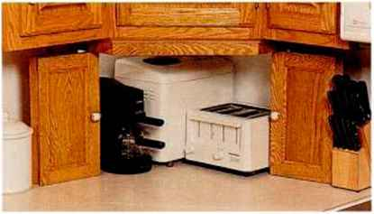 Hiding Appliance Behind Cabinets