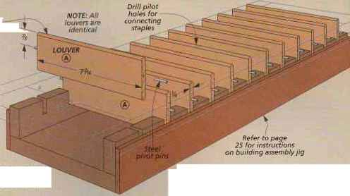 Louvered Shutters - Oak Tool Cabinet - Woodworking Archive