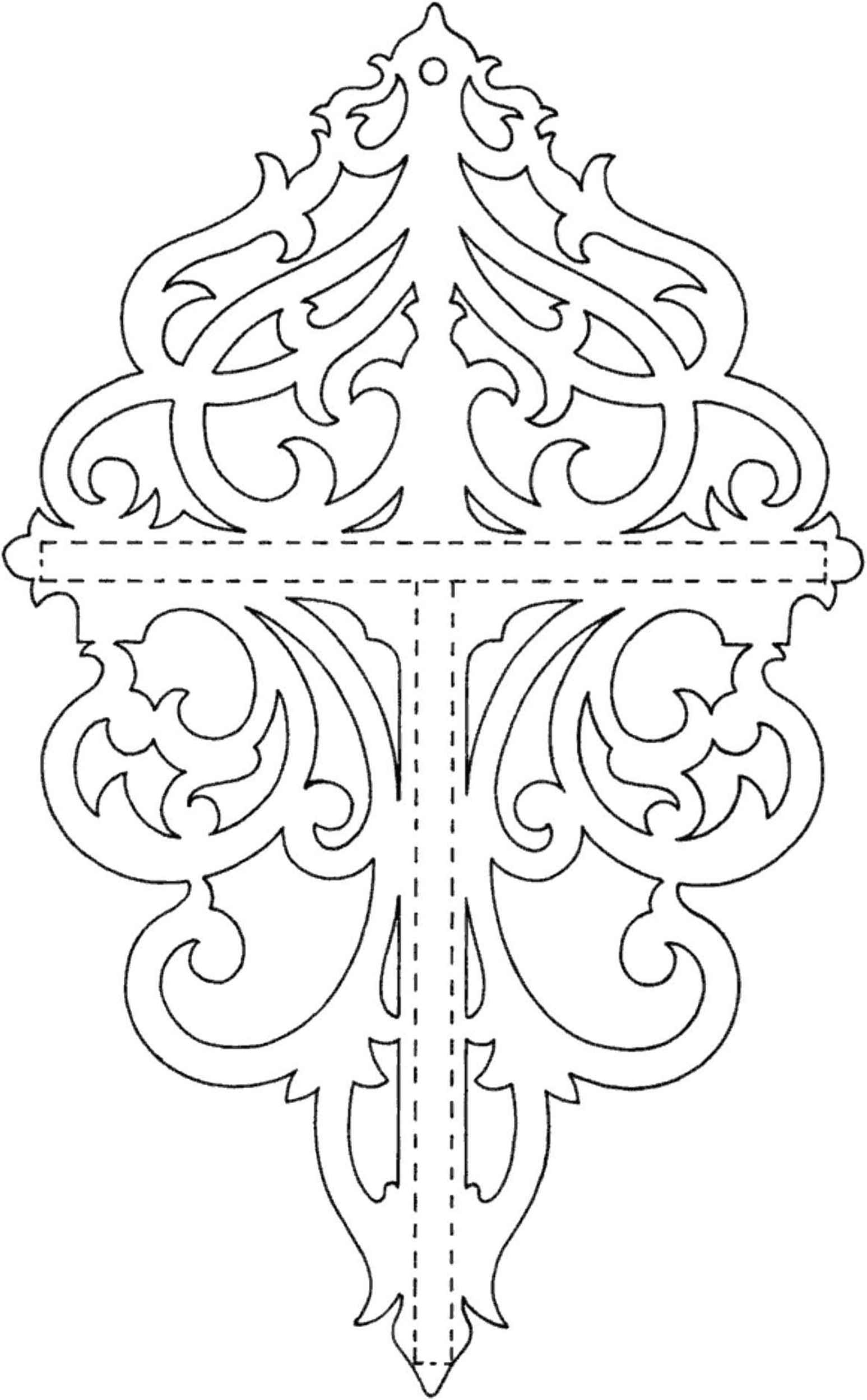 It is a picture of Old Fashioned Free Printable Scroll Saw Templates