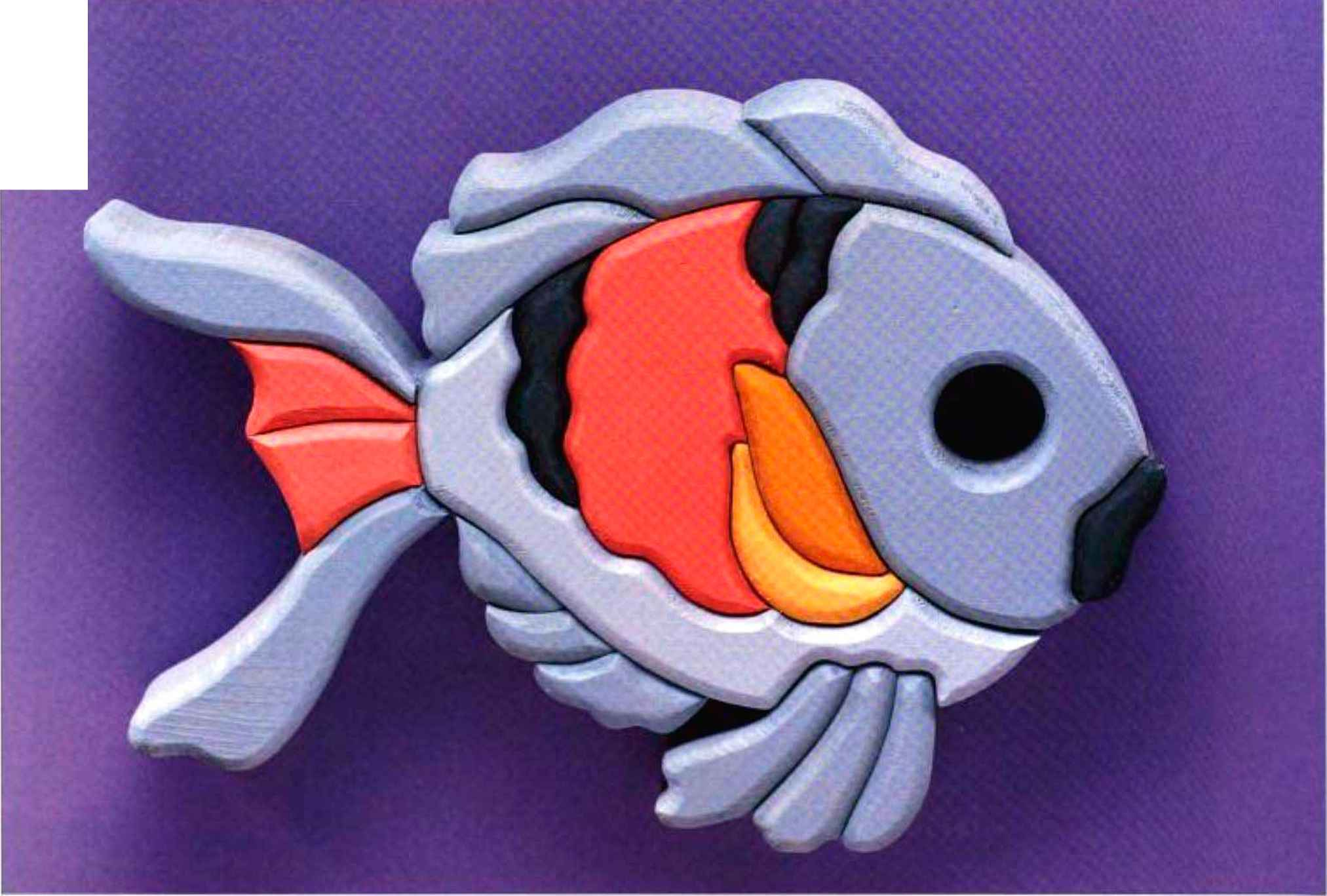 Pink Blue Fish - Scroll saw - Woodworking Archive