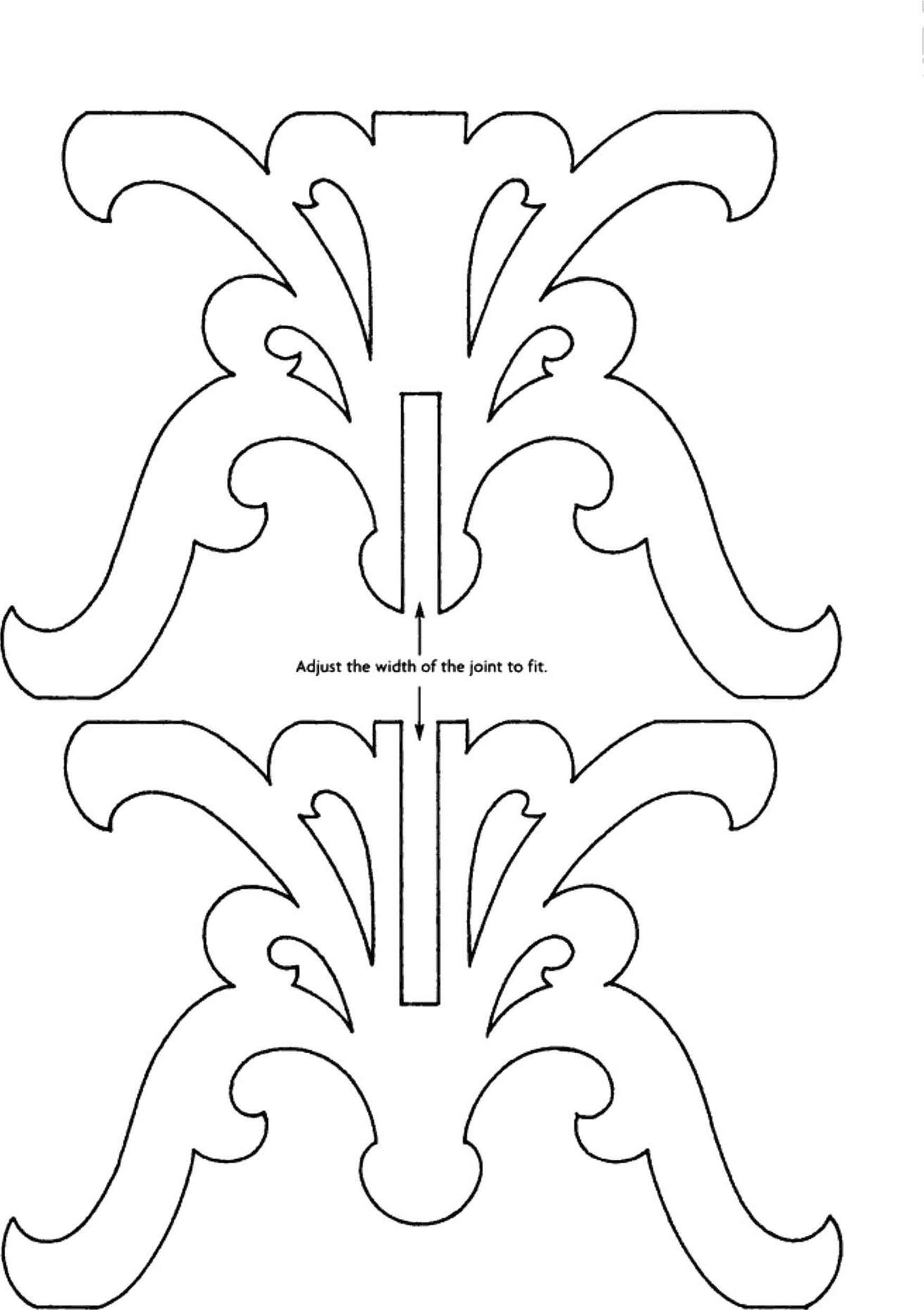 Clean image regarding free printable scroll saw templates
