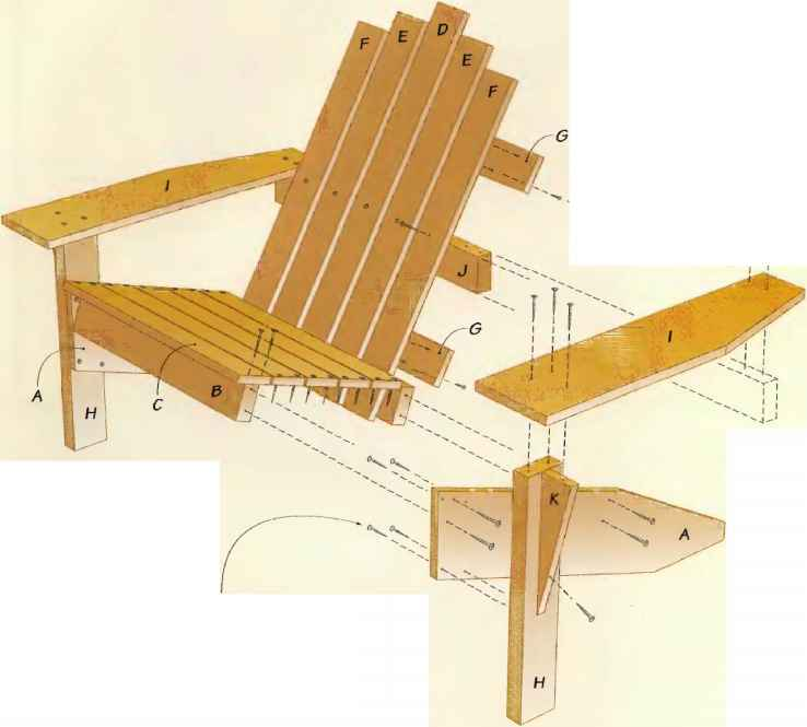 Adirondack Chair Materials List