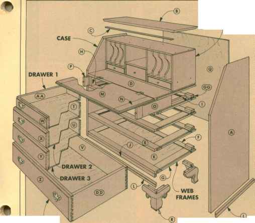 Drawer Runner Guide Rail Wood Working