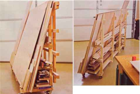 Portable Sheet Goods Rack Storage Solutions