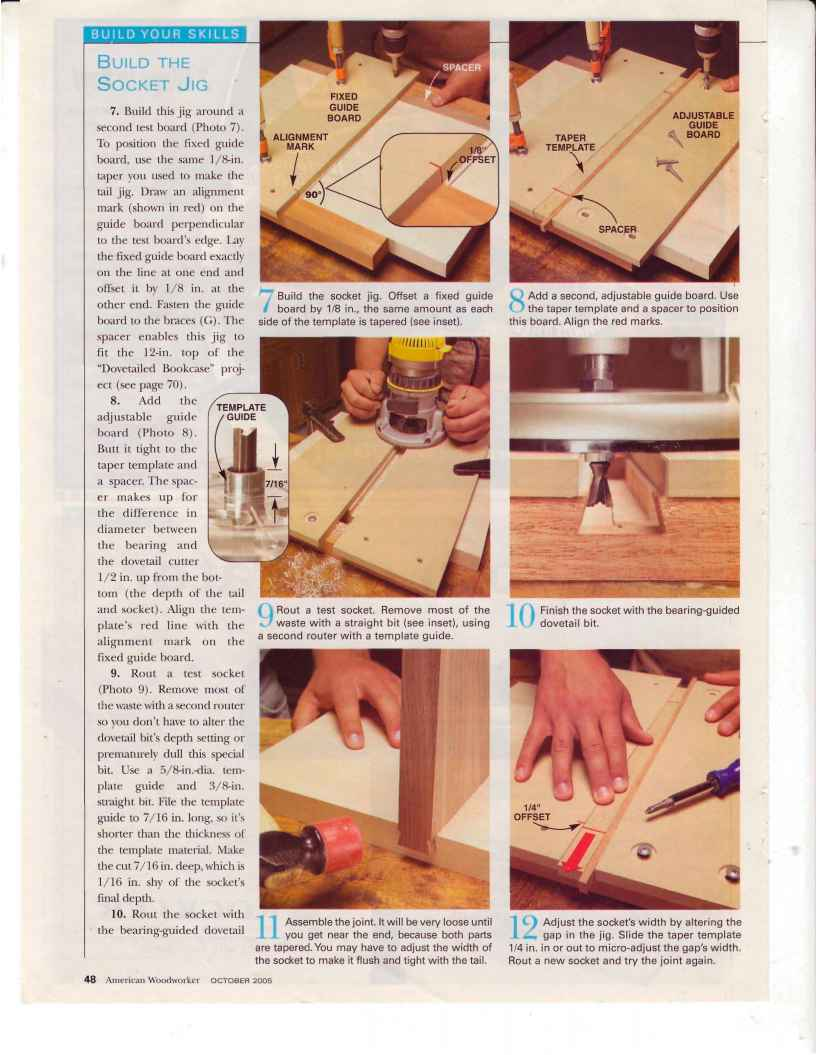 Dovetails - Tapered Dovetails - Woodworking Archive