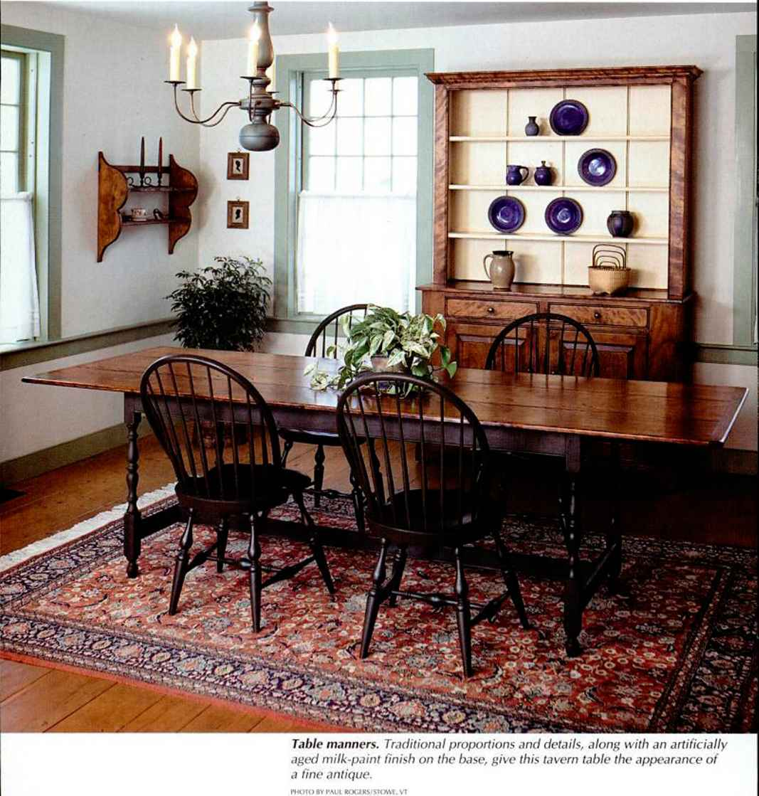 american woodworker tavern table woodworking archive