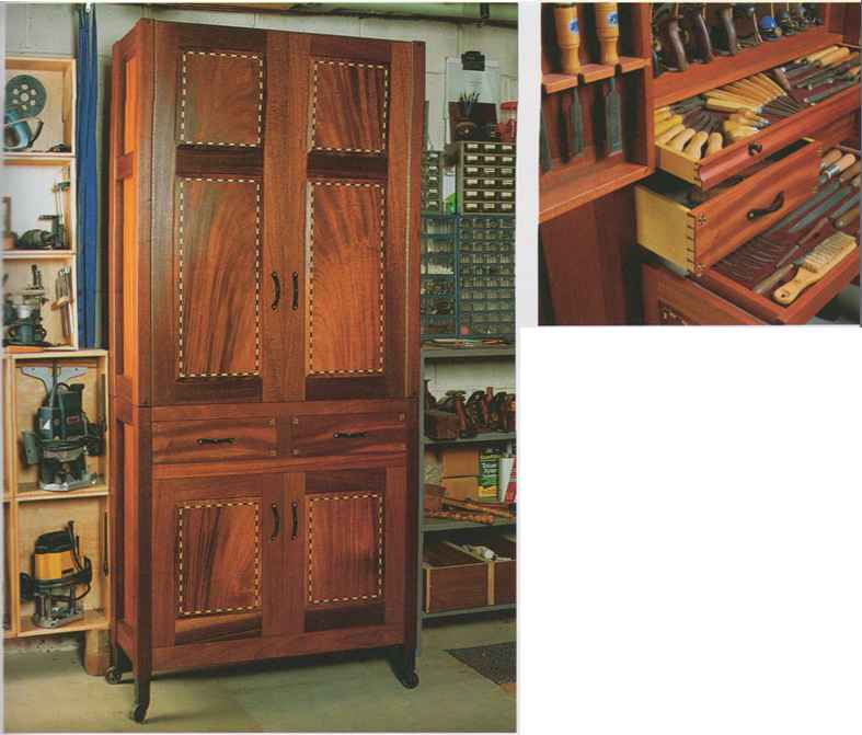 Standing Woodworking Tool Cabinet