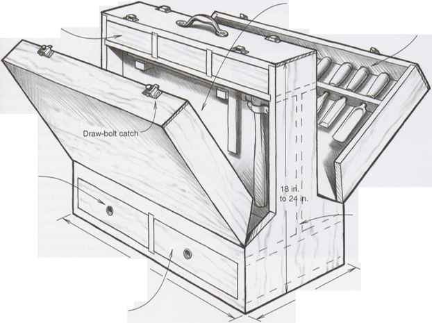 Building Woodworkers Tool Chest